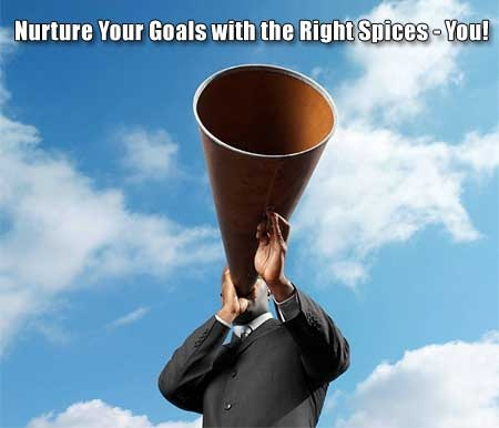 Nurture Your Goals with the Right Spices - You!