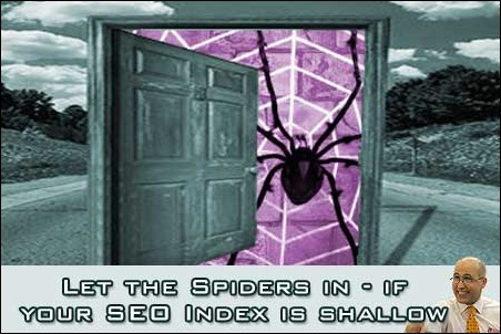 Let the Spiders in if your SEO Index is shallow