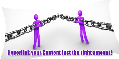 Hyperlinks your content just the right amount!